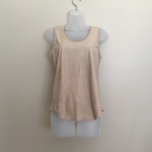 {Anthropologie} Chelsea and Violet suede tan tank